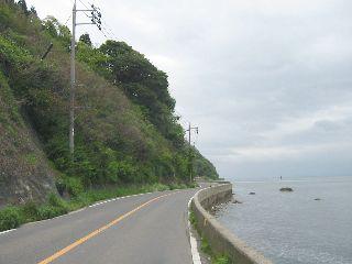 美保関灯台道路