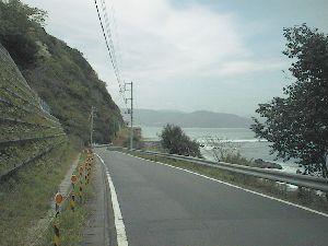 城ヶ崎への県道